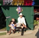 Hugh, Pippa and the Peanut relax after Mini Prix at the Wine Country Classic Show