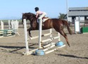 Hope and Mo showing good form in a lesson.