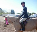Catherine took second place in Academy Equitation in her very first horse show