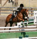 Debby and Berkeley on their way to winning the 2007 Almaden Medal Finals at Watsonville.