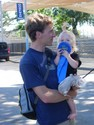 Zack and Ithaca hold Pippa's blue ribbon. You know she's going to ask for a pony now, right?