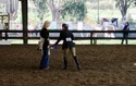 Catherine fetches her blue ribbon before some nasty kid on a pony has a chance to claim it.