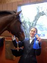 Catherine won her first blue ribbon and she wasn't even wearing her lucky pants.