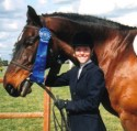 Heather and Jubal celebrate another blue ribbon