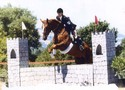 Cindy and Page during the stadium jumping phase of their event